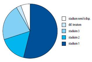 Zastoupení stadií nonseminomů Graph 3. Proportions of stages of nonseminomas