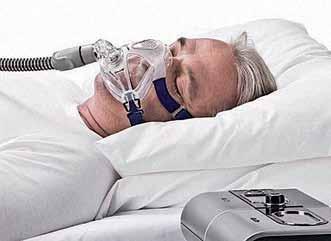 Léčba obstrukční spánkové apnoe pomocí trvalého přetlaku v dýchacích cestách.