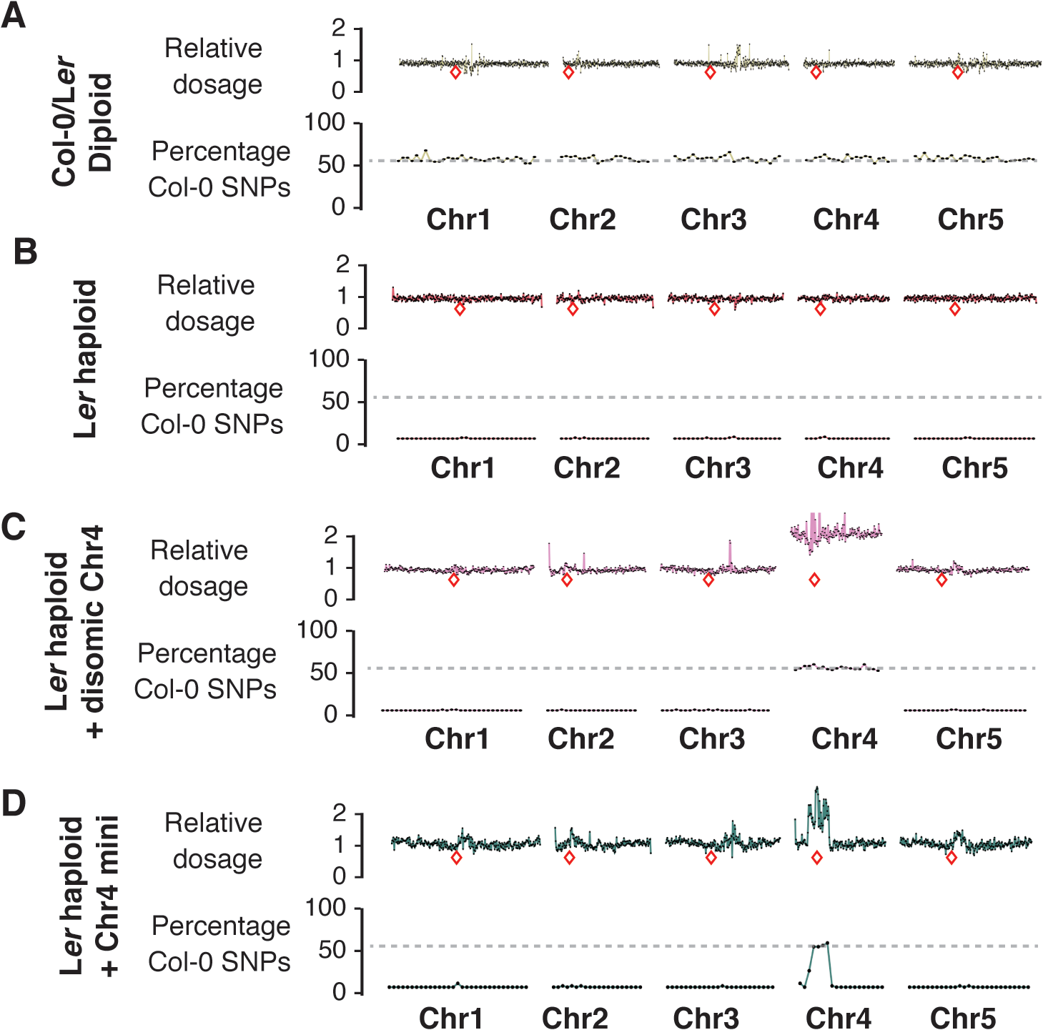 Characterization of haploid genotypes using whole-genome sequencing.