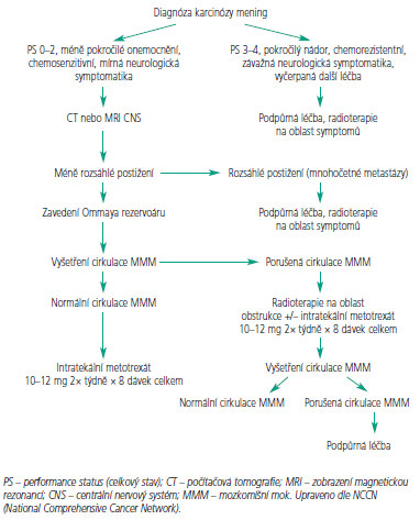 Léčebný algoritmus – indukční léčba.