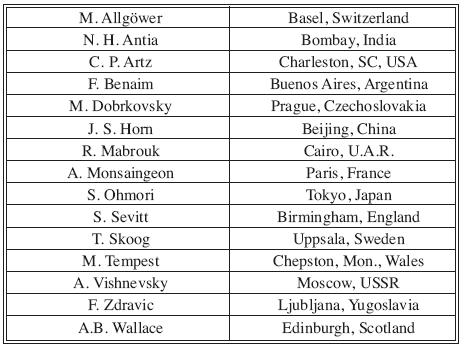 Original members of the ISBI Executive Committee