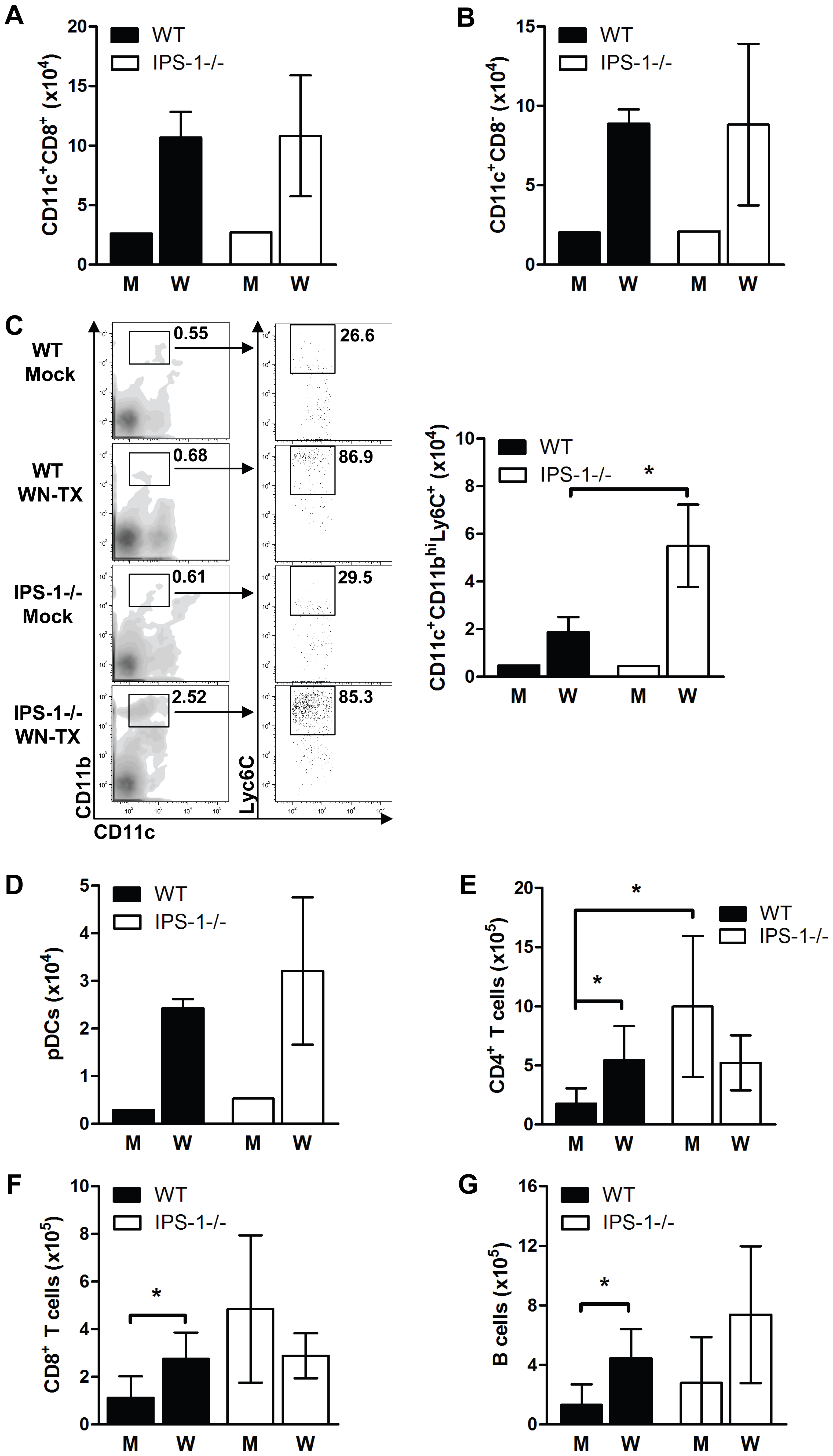 Immune cell subsets within the popliteal draining lymph node during acute WNV infection.
