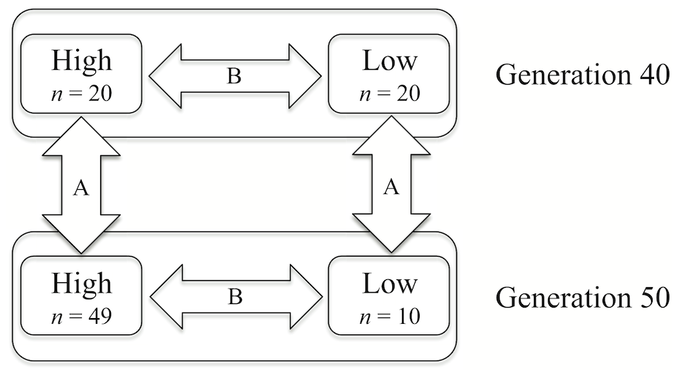 Schematic view of the groups of genotyped individuals and outline of the comparisons made in this study.