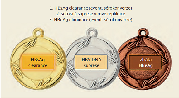 Cíle léčby HBV.