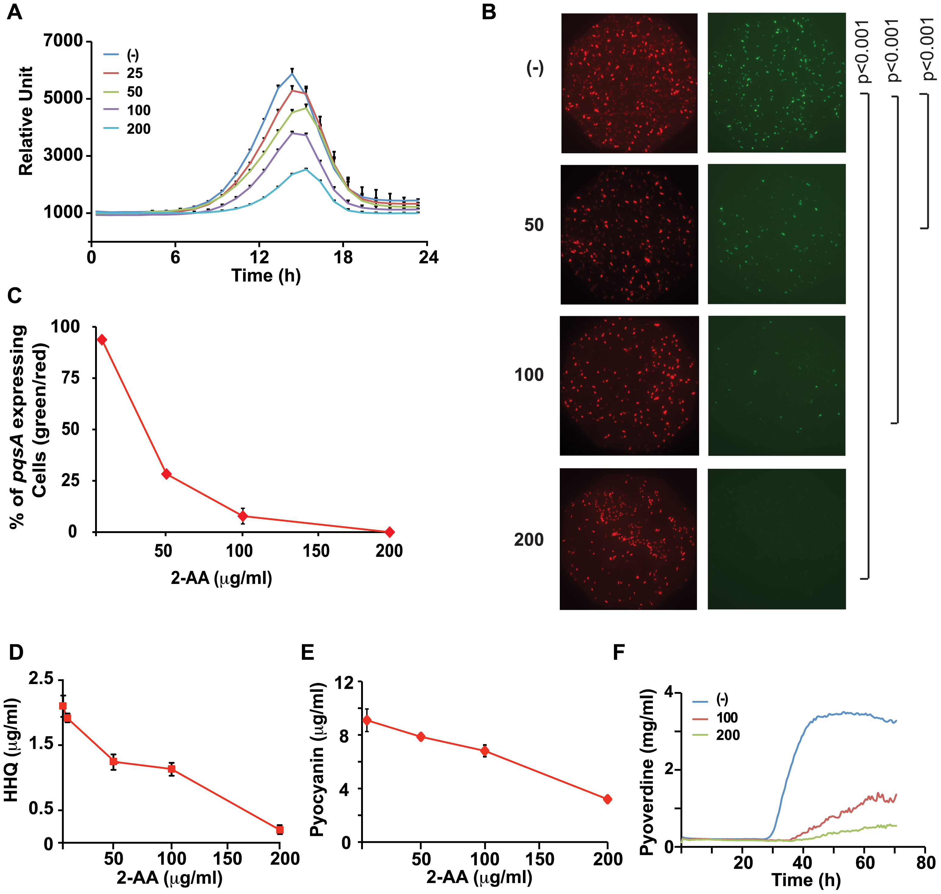 2-AA silences MvfR regulon in a subpopulation of cells and restricts HAQ mediated QS signaling relevant in acute infection.