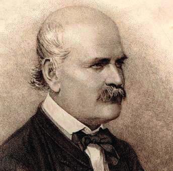 Semmelweis v roce 1860 (ve věku 42 let)