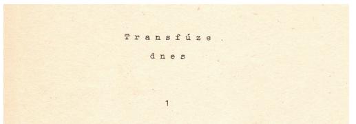 První cyklostylované číslo