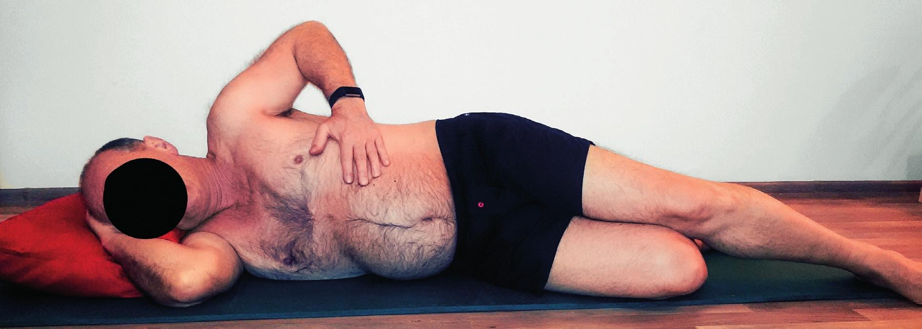 Lokalizované dýchání vleže na boku