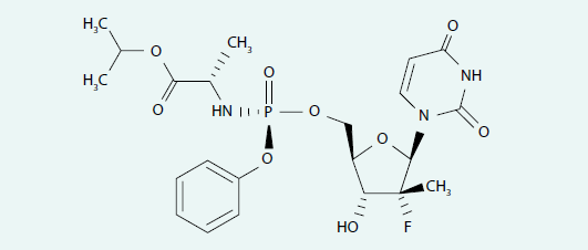 Strukturální vzorec sofosbuviru