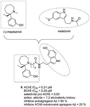 (−)-Meptazinol-melatoninový derivát 9