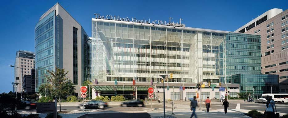 Nemocnice Children´s Hospital of Philadelphia z ulice<br> Fig. 1. Children´s Hospital of Philadelphia from the street view