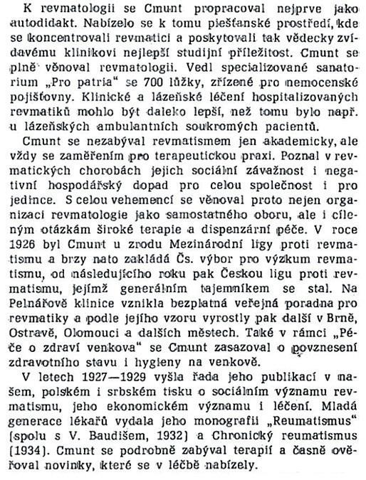 MUDr. V.Křížek, CSc. – Časopis lékařů českých, 1978