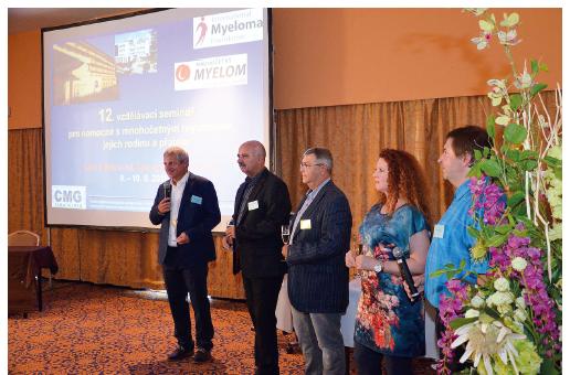 Pravidelné roční setkání pacientů pořádané ve spolupráci Klubu pacientů s mnohočetným myelomem s Českou myelomovou skupinou a nadačním fondem v Lázních Bohdaneč