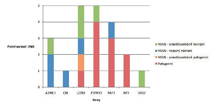 Genová specifická distribuce variant DNA u prenatálních vzorků