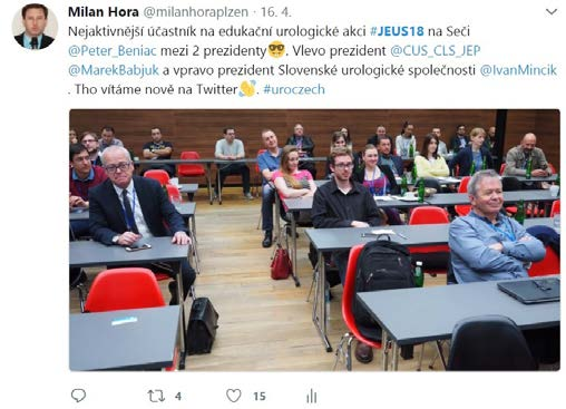 Nejnavštěvovanější Tweet z #JEUS18<br>