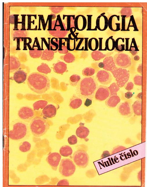 Slovensko-český časopis Hematológia – transfuziológia