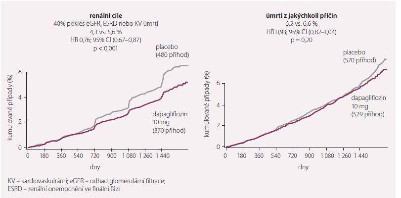 Renální cíle a celková mortalita. Upraveno dle [7].