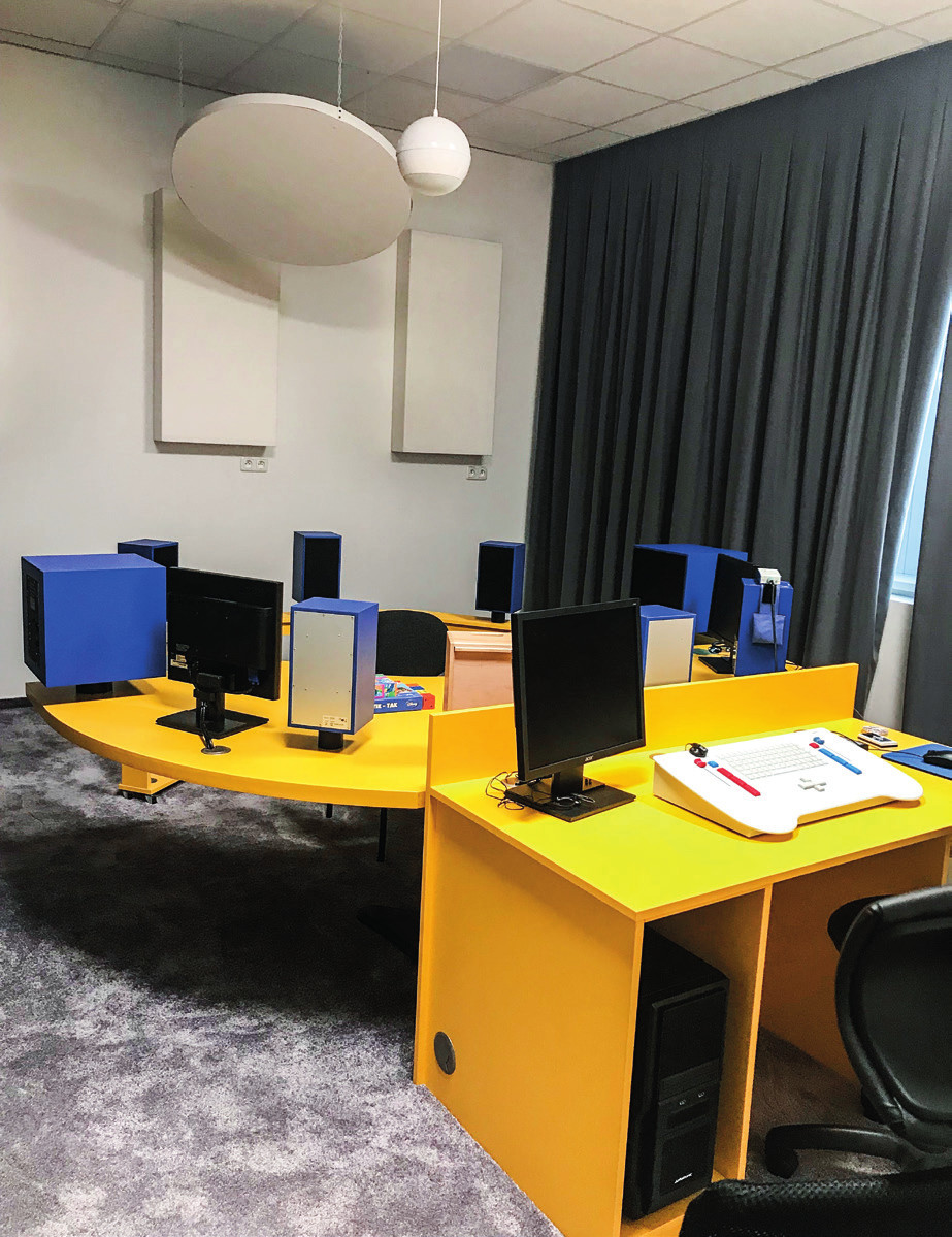 Vizuálne posilnená audiometria (VRA) v Centre pre deti s poruchou sluchu Detskej otorinolaryngologickej kliniky LFUK a NÚDCH v Bratislave.